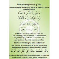 Dua e Marifaa and Dua after Dhohr